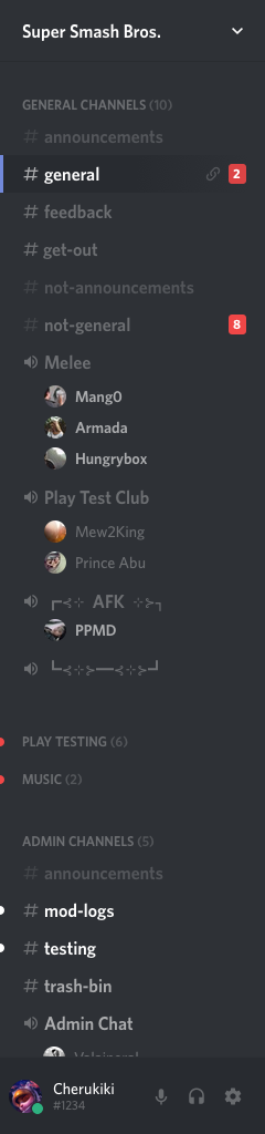 Channel Categories